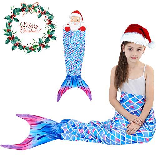 Mermaid Tail Blanket for Kids Girls Teens Adults Mermaid Sleeping BlanketsPlush Soft Flannel Fleece All Seasons Sleeping Blanket Fish Scale Design Snuggle Blanket Best Gifts Travel Outdoor Birthday Gi ()