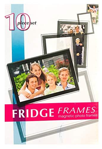(Black Duck Brand 10-Piece Magnetic Fridge Photo Picture Frames (10 Frames))