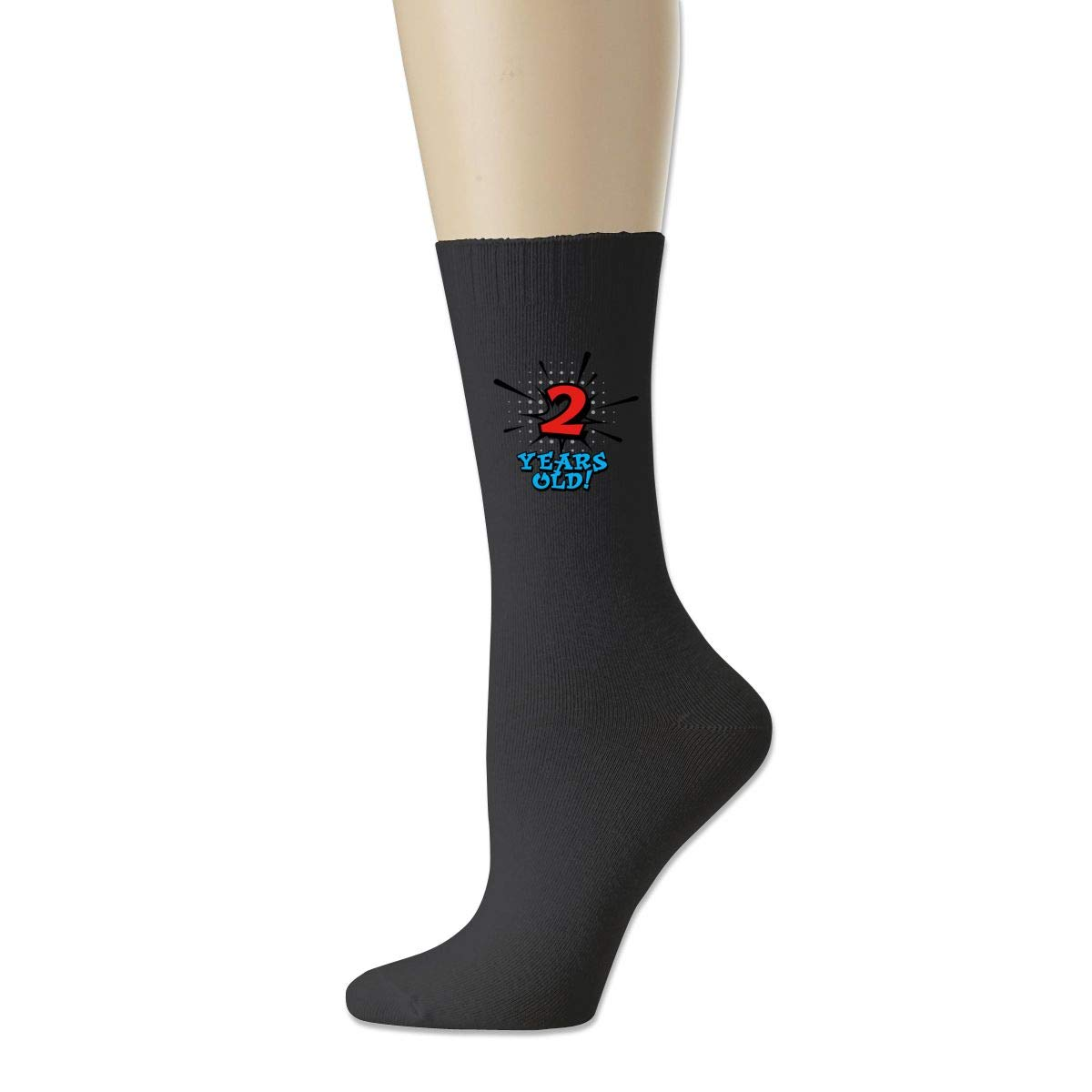 Men High Ankle Cotton Crew Socks Boys 2nd Birthday Casual Sport Stocking