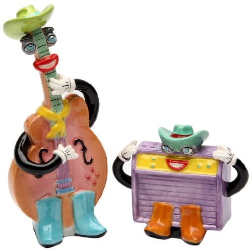 - Appletree Design Country Electronic Guitar and Amp Salt and Pepper Set, 2-1/4-Inch, 5-Inch