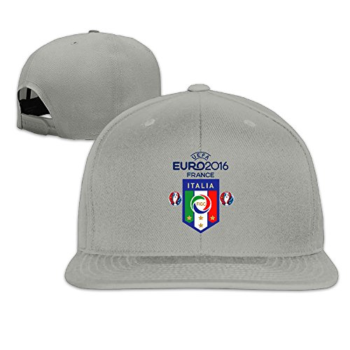 Price comparison product image Male / Female Euro 2016 Italy Football Logo Cotton Flat Snapback Baseball Caps Adjustable Mesh Hat Mesh Hat Ash One Size Fits Most