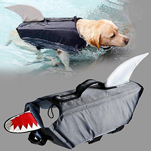 MOO&NOO Dog Life Jacket Shark Dog Life Vest by MOO&NOO