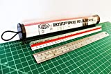 Empire Rulers 12'' Professional Grade Triangular Architect Scale Aluminum Color-Coded Ruler + Heavy Duty Rounded Edge Stainless Steel Ruler with Conversion Table (Laser Etched Markings)