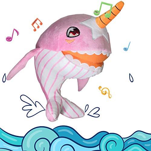 Shark Baby Singing Plush, Pink Stuffed Animal Toys for Kids Toddler 11
