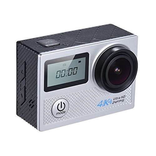 Andoer 4K 24fps WiFi Action Camera 20MP 1080P 60fps Gyroscope Anti-shake Support 5X Zoom Dual LCD Screen Waterproof 30m 170°Selectable Wide Angle Lens Car DVR Camcorder Action Cameras Andoer