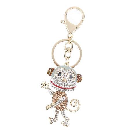 Strass Kristall Art Und Weise Schlüsselring Schlüsselanhänger Kreative Weinachten Geschenke - Affe, 29