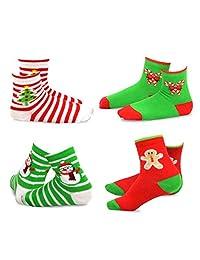 TeeHee Christmas Kids Cotton Fun Crew Socks Multi Pair Pack