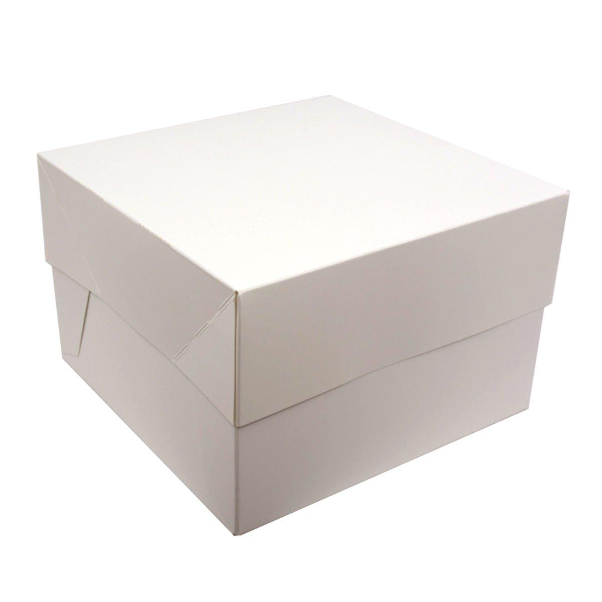 Cajas para pasteles. Cuadradas. Blancas. Paquete de 5. ¡Ideales para llevar tus creaciones!, Blanco, 8 pulgadas Reynards