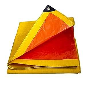 QIANGDA Lona Lona Impermeable Plástico Ropa Ecológica Resistente al Frío No Olor 180 g/m², Espesor 0,25 mm, Amarillo + Naranja, 11 tamaños Opcionales