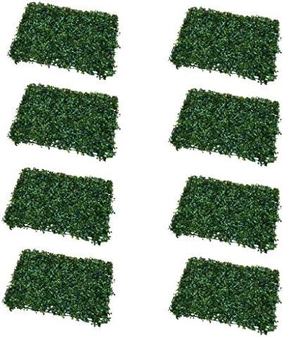 FLAMEER 8x緑の人工芝の敷物飾り芝芝生の壁マット妖精の庭の草