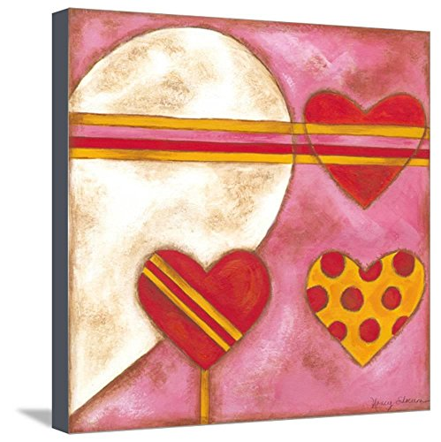 Nancy Slocum Pop - ArtEdge Pop Hearts I by Nancy Slocum, Stretched Canvas Print, 20x20 in
