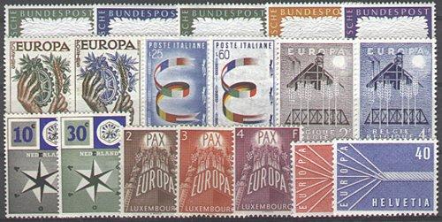 Goldhahn Europa CEPT 1957 postfrisch- Briefmarken für Sammler