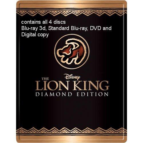 Amazon Com The Lion King Futureshop Blu Ray Steel Case Steelbook 4 Disc Diamond Edition Blu Ray 3d Blu Ray Dvd Digital Copy Movies Tv