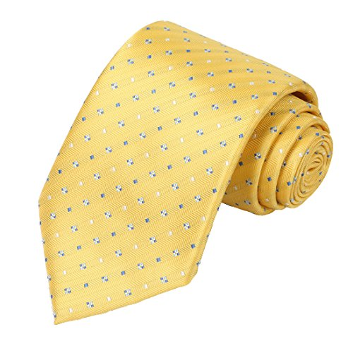 Gold Dot Yellow (Ties for Men Gold Yellow Dots Necktie by KissTies)