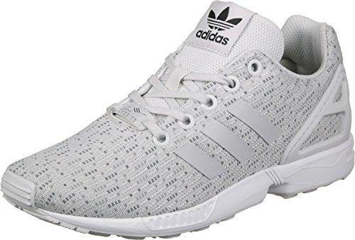 adidas Zx Flux J, Zapatillas de Gimnasia Unisex Niños Blanco (Grey One F17/grey One F17/ftwr White)