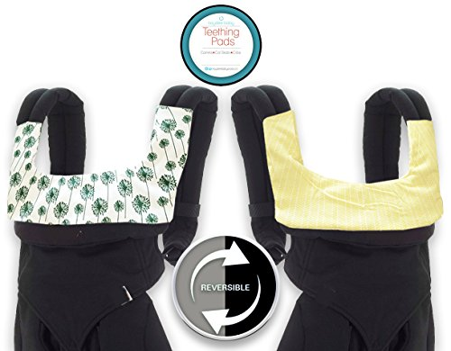 Kaydee Baby ONE PIECE ORGANIC Reversible Drool & Teething Pad With ORGANIC Fleece Inner Lining for Ergobaby Carrier - Variety of Colors Available (Flowers)
