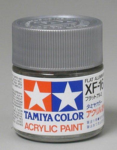 Tamiya 81316 Acrylic XF16 Flat Aluminum 3/4 oz ()