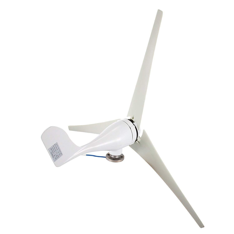 Guellin 1200 W 48V/400W 12V Generador de Turbina Eólica Aerogenerador de 3 palas Generador de Turbina de Viento de Controlador de Carga MPPT Wind Turbine Generator (400W 12V)