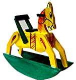 Crafts India Handcrafted Wooden Attractive Rocking Horse - Namma Kudure