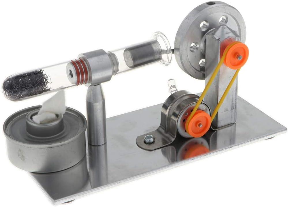 MagiDeal DIY Stirlingmotor Schwungrad Sterling Engine Stirling Motor Modell mit bunten LED Lichter Physikalische Wissenschaft Lernspielzeug