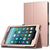 MoKo Case for All-New Amazon Fire 7 2017 (7' Tablet, 7th Generation - 2017 Release Only) - Slim Folding Stand Cover Case for Fire 7 inch Tablet with Alexa, Rose Gold (with Auto Wake/Sleep)