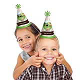 Woodland Creatures - Cone Happy Birthday Party Hats for Kids and Adults - Set of 8 (Standard Size)
