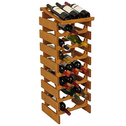 24-Bottles Wine Rack in Medium Oak Finish by Wooden Mallet