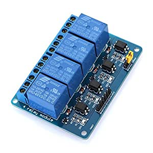 AmaranTeen - 4 Channel 5V Active Low Relay Module Board for Arduino