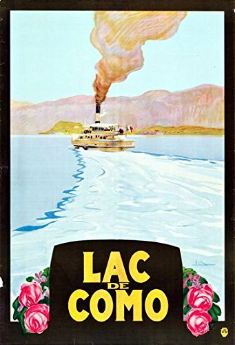 efce6b3cca5 Vintage Lake Como Italy Tourism Poster A3 Print  Amazon.co.uk  Kitchen    Home