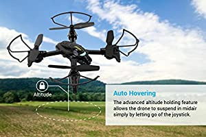 Tenergy TDR Python Mini RC Quadcopter Drone with Camera HD 720P Auto Hovering 3D 360° Flips Rolls Headless Mode Drone for Beginners from Tenergy