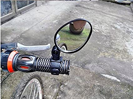 Universal Rotary Handlebar Glass Rear View Mirror for MTB Road Bike Bicycle
