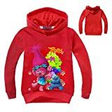 PCLOUD Trolls Little and Big Girls Cartoon Printed Hoodie