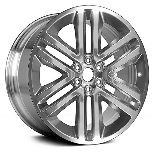(Value Replica 6 Double Spokes Polished Factory Alloy Wheel OE Quality Replacement)