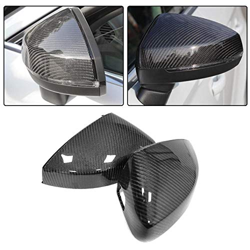 JC SPORTLINE A3 S3 CF Rear View, fits Audi A3 S3 RS3 8V 2014-2018 Replacement Carbon Fiber Mirror Covers Cap(1 Pair with Side Lane Assistant)