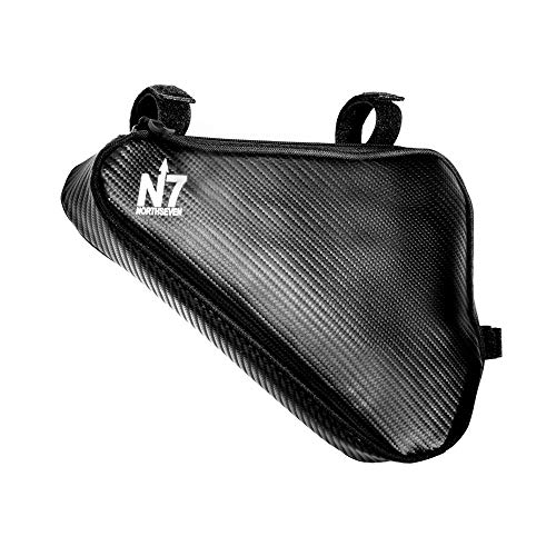 (northseven Carbon Triangle Frame Bag - 100% Waterproof & Lightweight for MTB and Road Cycling | Adjustable Non-Scratch Velcro Design | Holds Large Cell Phones, Wallets, Gels, Tools and More!)