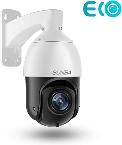 SUNBA 3MP IP PoE PTZ Camera Outdoor, 20x Optical Zoom H.265, Motion Human-Shape Detection, 24×7 Automatic Patrol, up to 328ft Night Vision 405-D20X ECO Edition