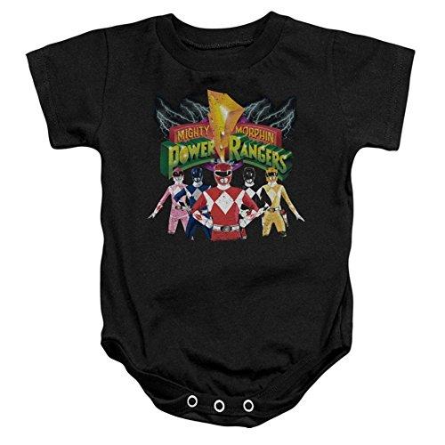 Infant Power Rangers Rangers Unite Infant Onesie Size 6 Mos Black