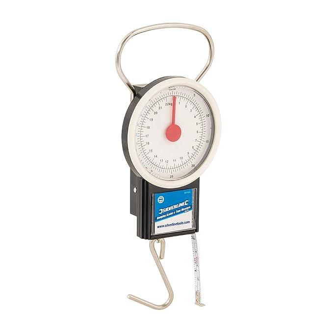 Silverline 251024 - Báscula colgante con flexómetro (22 kg): Amazon.es: Bricolaje y herramientas