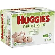 HUGGIES Natural Care Baby Wipes, 3 Packs, 528 Total Wipes