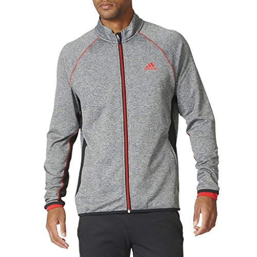 maheat Full Zip Premium Soft Fleece Insulation Mens Performance Golf Jacket Black Heather XL (Performance Fleece Full Zip Vest)