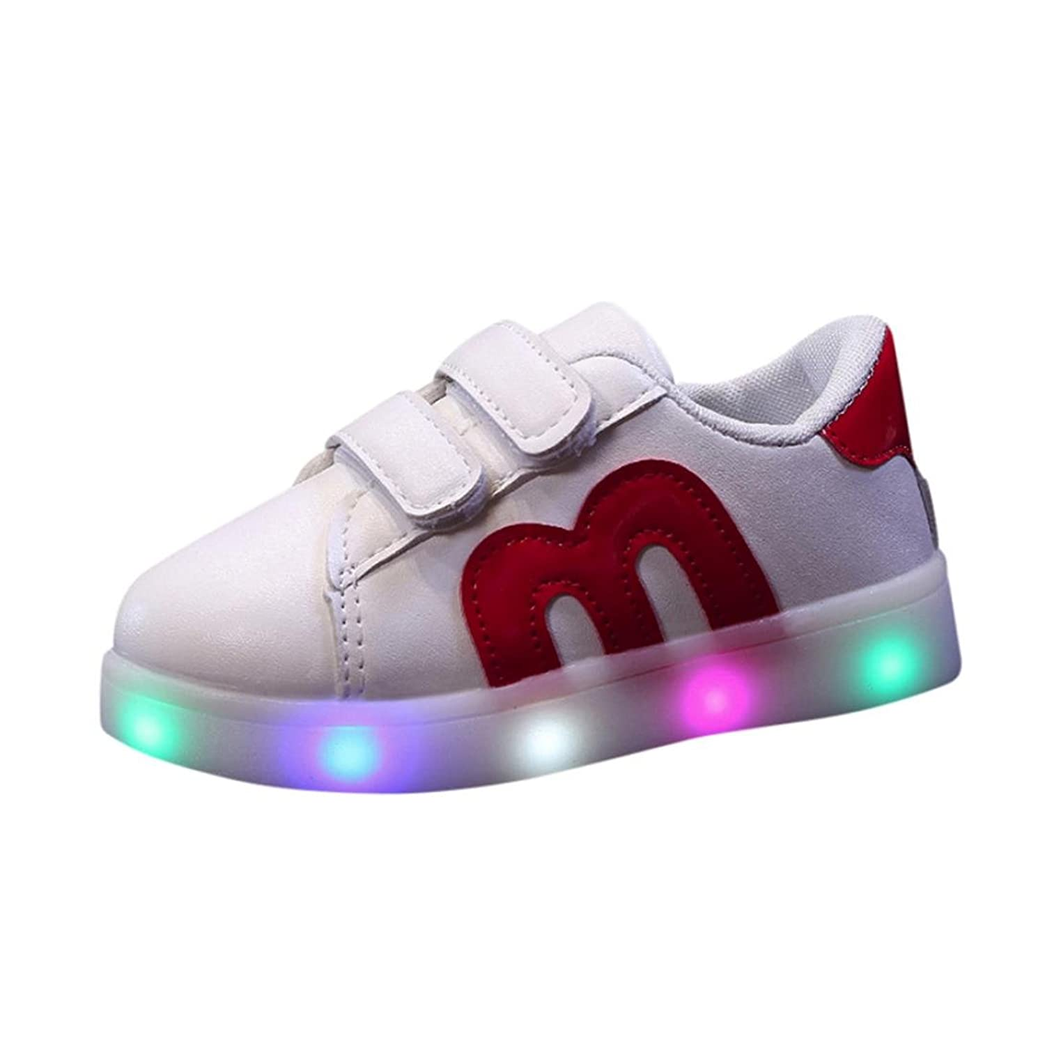 Witspace Baby Boys Girls LED Light Up Luminous Sneakers Toddler Kids