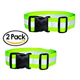 Best2go - 2 Pack - Reflective Glow Belt Safety Gear, Pt Belt, For Running Cycling Walking Marathon Military.