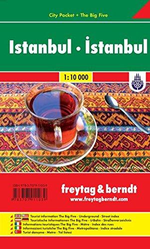 Istanbul, Stadtplan 1:10 000, City Pocket + The Big Five (freytag & berndt Stadtpläne)