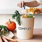 Navaris-Cubo-para-Basura-organica-Compost-de-Basura-de-3-L-con-filtros-Contenedor-para-residuos-de-19-x-20-CM-Tacho-Vintage-para-Cocina-Crema