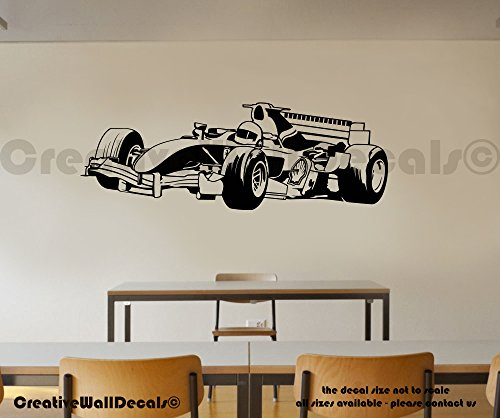 CreativeWallDecals Vinyl Wall Decal Sticker Formula 1 Super Car Kids Race Track Bedroom r1771 ()