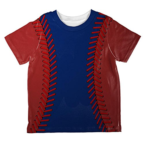 (Baseball League Blue and Red All Over Toddler T Shirt Multi 4T)