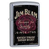 Personalized Jim Beam Vintage Logo Street Chrome ZIPPO LIGHTER - Free Engraving