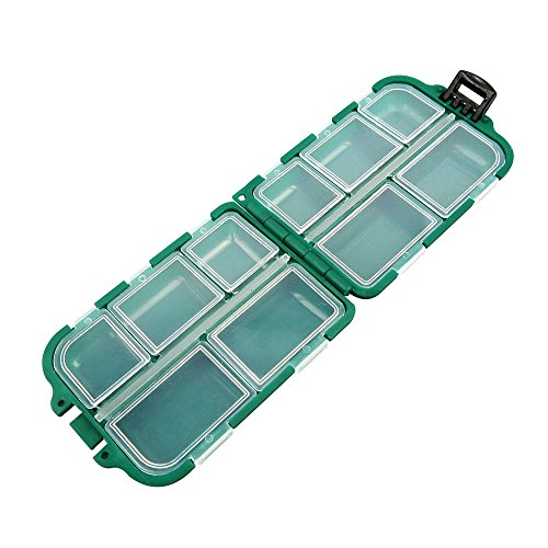1x BOX003 Clear Beads Tackle Box Fishing Lure Jewelry Nail Art Small Parts Display Plastic transparent Case Storage Organizer Containers kisten boxen ()