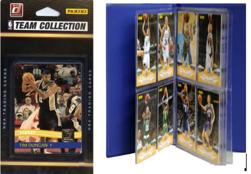 C&I Collectables NBA San Antonio Spurs Licensed 2010-11 Donruss Team Set Plus Storage Album by C&I Collectables