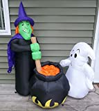 Airblown Halloween Inflatable Witchs Brew Witch Cauldron Ghost 4ft. Yard Decor Gemmy
